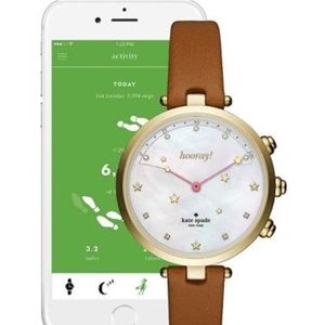 Kate Spade SmartWatch Holland brown leather NWT